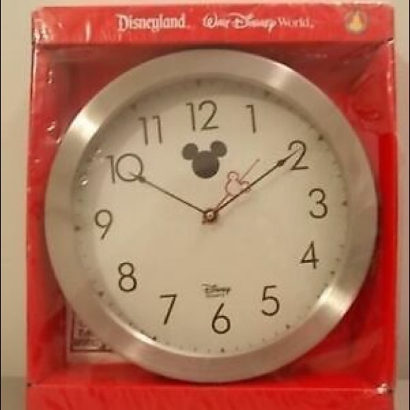 Mickey Mouse Disney Modern Silver Kitchen Clock